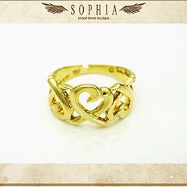 Tiffany & Co. Paloma Picasso 18K Yellow Gold Rubbing Heart Ring