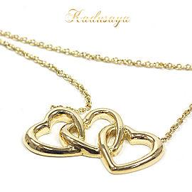 Tiffany & Co. Elsa Peretti 18K Yellow Gold Triple Heart Necklace
