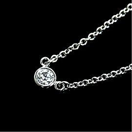 Tiffany & Co. Elsa Peretti PT950 Platinum with Diamond Pendant Necklace