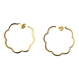 Chanel Camellia 18K Yellow Gold Earrings