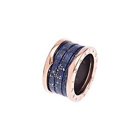 Bulgari B-Zero Rose Gold Lapis Lazuli Ring Size 4.5