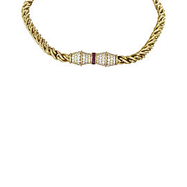 Hammerman Brothers 18K Yellow Gold Diamond & Ruby Choker Necklace