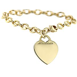 Tiffany & Co. 18k Gold Heart Tag Charm Bracelet