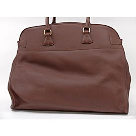 Hermès Havane Brown Clemence Leather Atlas Travel 50cm 236375