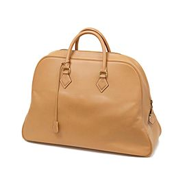 Hermès Gold Samplon Travel Boston Duffle Bag 236797