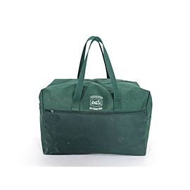 Hermès Green Duffle Extra Large Travel Boston 222286