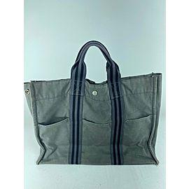 Hermès Fourre Tout Gm 11her623 Grey Canvas Tote