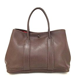 Hermès Garden Party L Tpm L'air De Ginza 860016 Brown Swift Leather Shoulder Bag