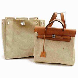 Hermès Herbag Sac A Dos Toile 860102 Beige Coated Canvas Backpack