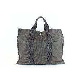 Hermès Fourre Tout Herline 228720 Grey Canvas Tote