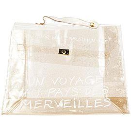 Hermès Clear Translucent Vinly Kelly Beach bag 2lm33her