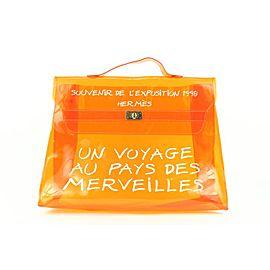 Hermès Translucent Orange 1998 Souvenir De L'Exposition Kelly Bag 652her317