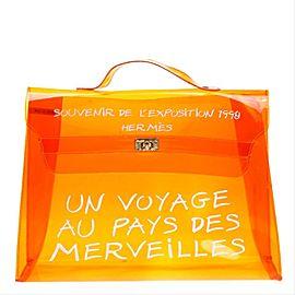 Hermès Translucent Souvenir De L'Exposition Kelly Orange 867743