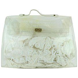 Hermès Kelly Translucent Souvenir Limited Edition 22hz1019 White Vinyl Tote