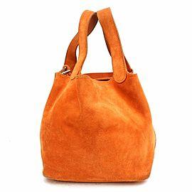 Hermès Orange Suede Picotin 18 PM 868694