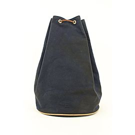 Hermès Navy Blue Polochon Mimile Drawstring Bucket Bag Backpack 774her41