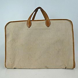 Hermès Toile Garment Carrier 872751 Brown Canvas Weekend/Travel Bag