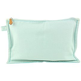 Hermès Blue Toiletry Pouch Cosmetic Clutch 922her83