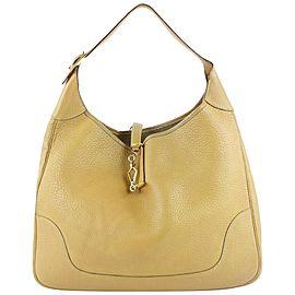 Hermès Trim Hobo Large Mustard Beige Fjord 38 4hz0921 Yellow Leather Shoulder Bag