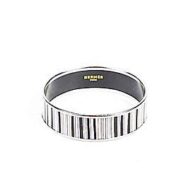 Hermes Palladium Enamel Striped Bracelet