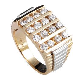 I.B. Goodman 14K Multi-Tone Gold Diamond Ring
