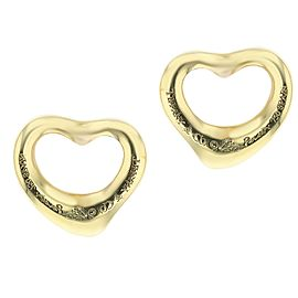 Tiffany & Co. 18k Gold Open Heart Earrings