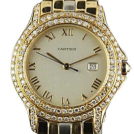Cartier Panthere Cougar Yellow Gold Steel Diamond 32mm Watch