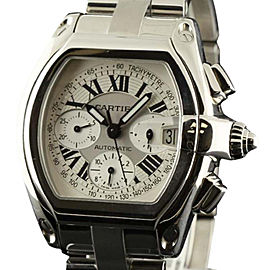 Cartier Roadster W62020X6 XL Steel Automatic Chronograph 49mm Watch