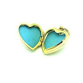 Tiffany & Co. 14K Yellow Gold Retired Heart Locket Pendant