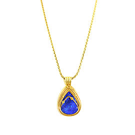 Christopher Walling Diamond & Opal Pendant