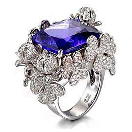Tanzanite And Sapphire Ring
