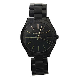 Michael Kors Slim Runway MK3221 Black-Tone Stainless Steel 42mm Watch