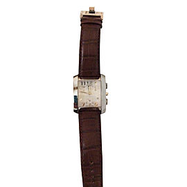 Fendi Watch Classic Brown Leather Strap Excellent Comdition