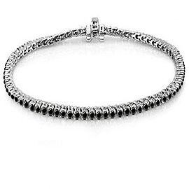 Roberto Demeglio 18k Solid White Gold & Black Diamond Tennis Bracelet