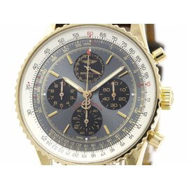 Breitling Navitimer R33350 18K Rose Gold & Leather Automatic 38mm Mens Watch