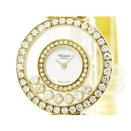 Chopard Happy Diamond 20/5452 18K Yellow Gold Quartz 25mm Womens Watch