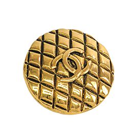 Chanel Coco Gold Tone Hardware Brooch