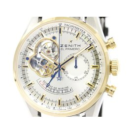 Zenith Chronomaster 51.2080.4021 Stainless Steel & Pink Gold 42mm Mens Watch