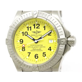 Breitling Avenger Seawolf E17370 Titanium Yellow Dial Automatic 44mm Mens Watch