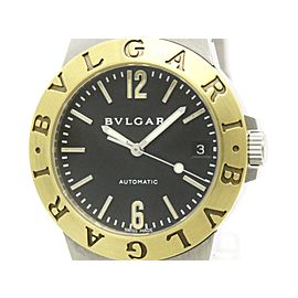 Bulgari Diagono Lcv 35sg Stainless Steel & Yellow Gold Self-Winding 35mm Mens Watch