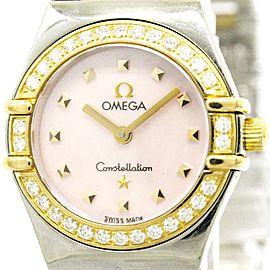 Omega Constellation 1368.73 18K Pink Gold & Stainless Steel Quartz 25mm Womens Watch