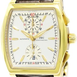 IWC Da Vinci IW376402 18K Yellow Gold & Leather Automatic 43mm Mens Watch