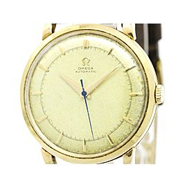 Omega 2643 14K Pink Gold & Leather Automatic 34mm Mens Watch
