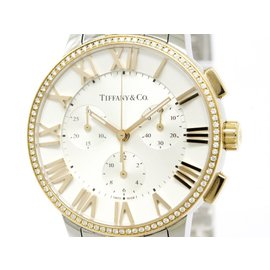 Tiffany & Co. Atlas 33989563 18K Rose Gold & Stainless Steel Quartz 37mm Womens Watch