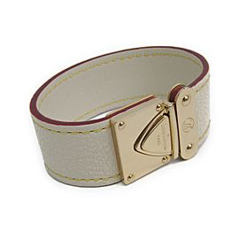 Louis Vuitton Blanc Serrure Suhali Leather Bracelet