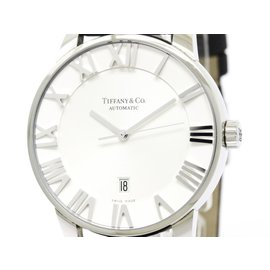Tiffany & Co. Atlas Z1810.68.10A21A50A Stainless Steel & Leather Automatic 42mm Mens Watch