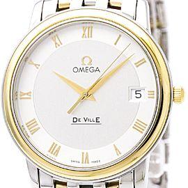 Omega De Ville 4310.32 Stainless Steel & 18K Yellow Gold Quartz 34mm Mens Watch