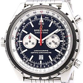 Breitling Chrono-Matic A41360 Stainless Steel Automatic 44mm Mens Watch