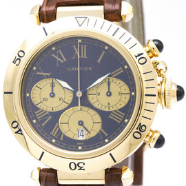 Cartier Pasha W3000951 18K Yellow Gold Quartz Mens Watch