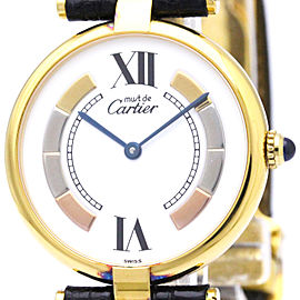 Cartier Must Gold Plated Quartz 30mm Unisex Watch